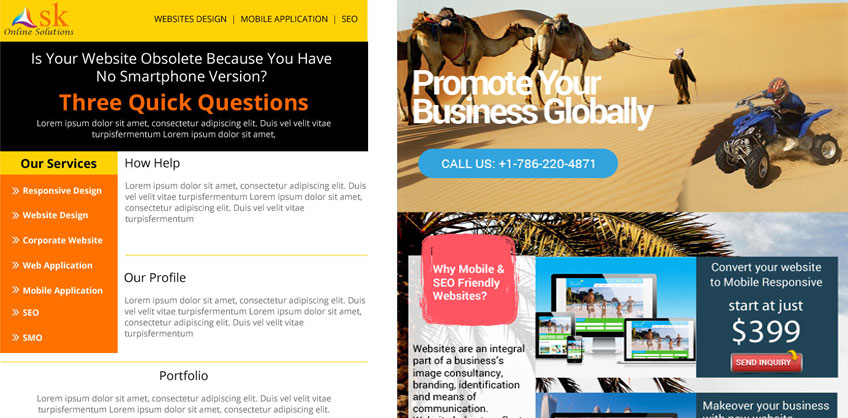 Ask Online Solutions Newsletter Design