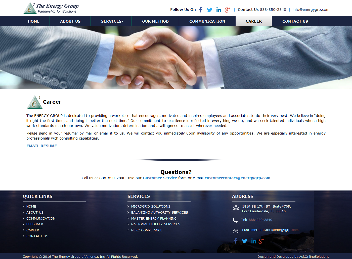 Ask Online Solutions Portfolio Energy Group Career