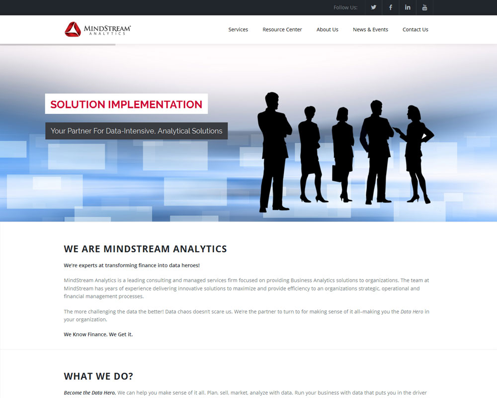 Ask Online Solutions Portfolio MindStream Home