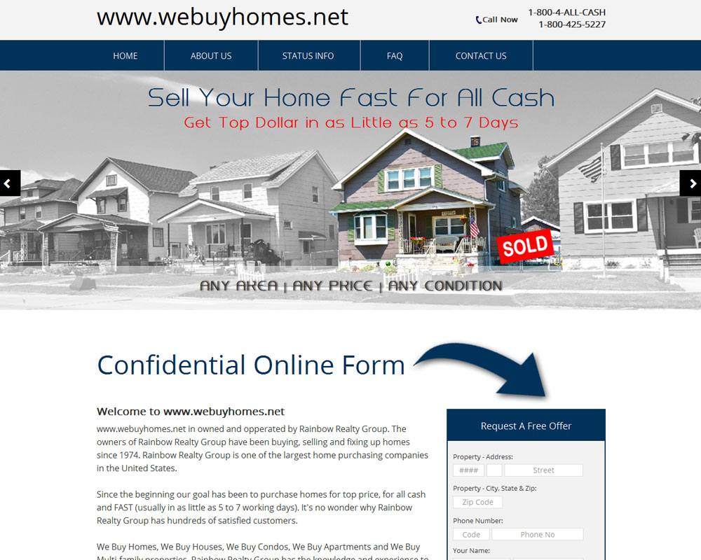 Ask Online Solutions Portfolio We Buy Homes
