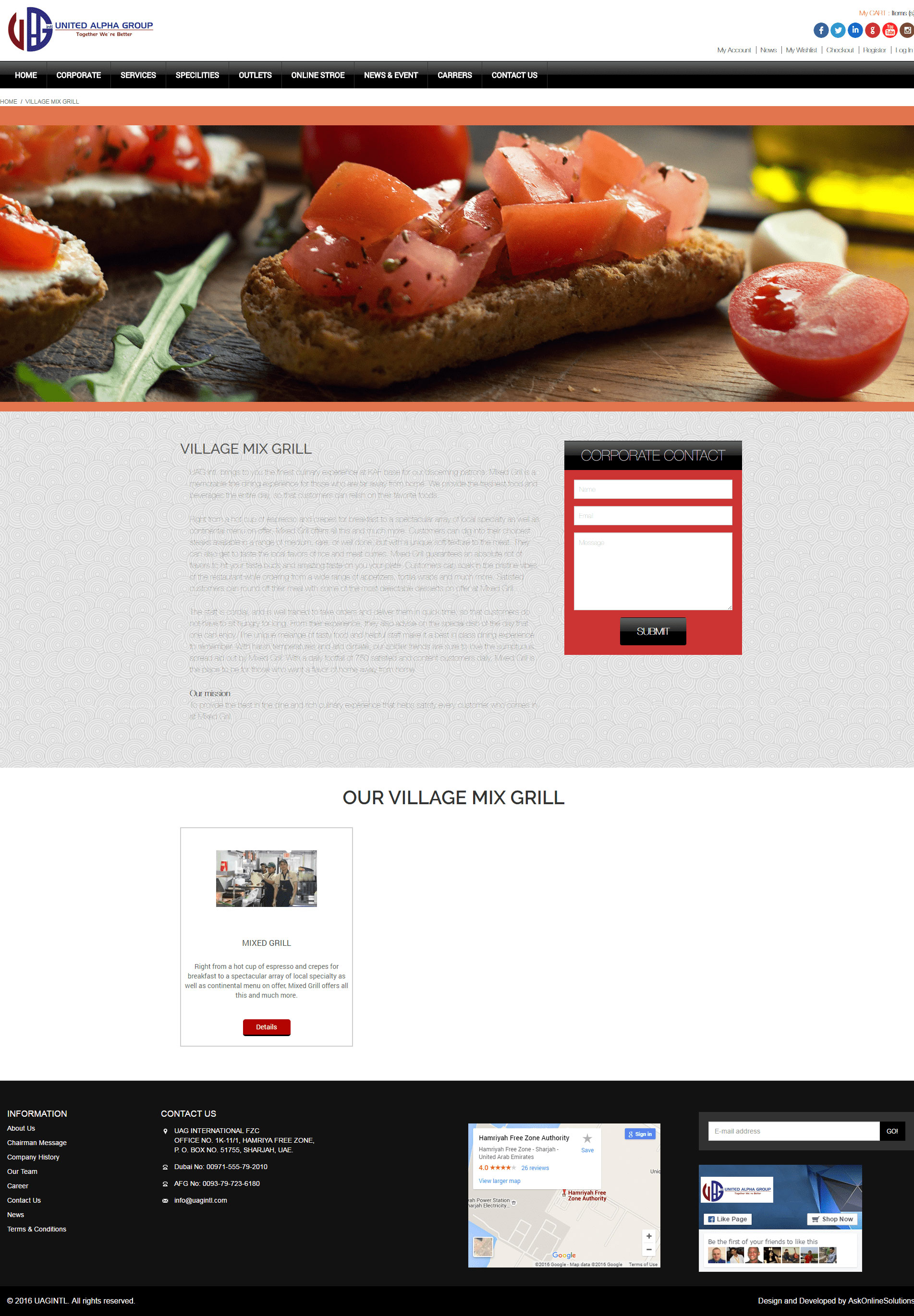 Ask Online Solutions Portfolio UAG Mix Grill
