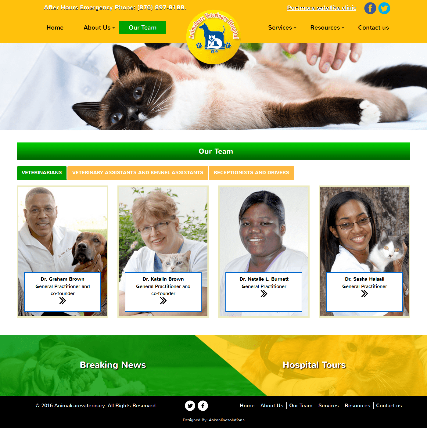 Ask Online Solutions Portfolio Animal Care Team