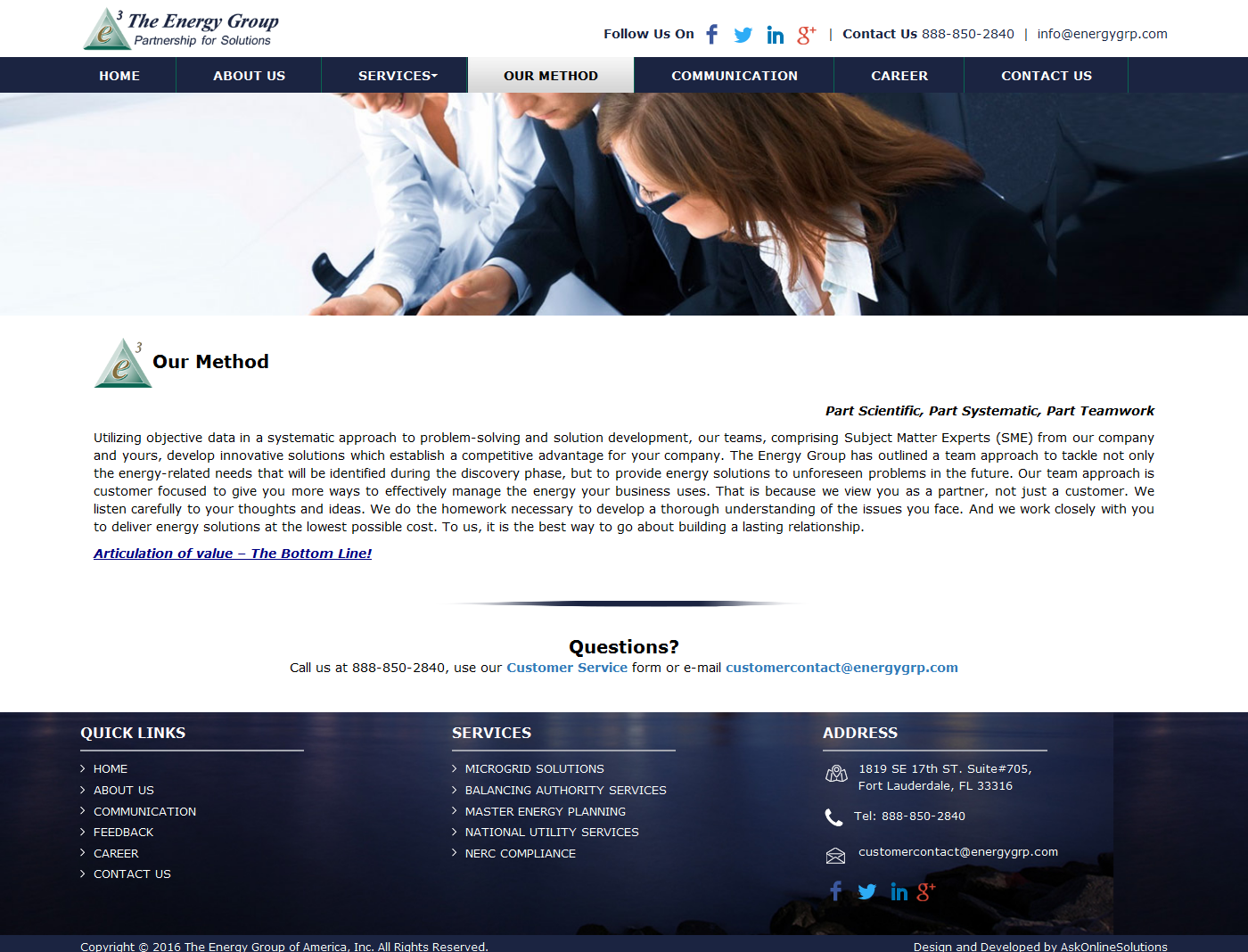 Ask Online Solutions Portfolio Energy Group
