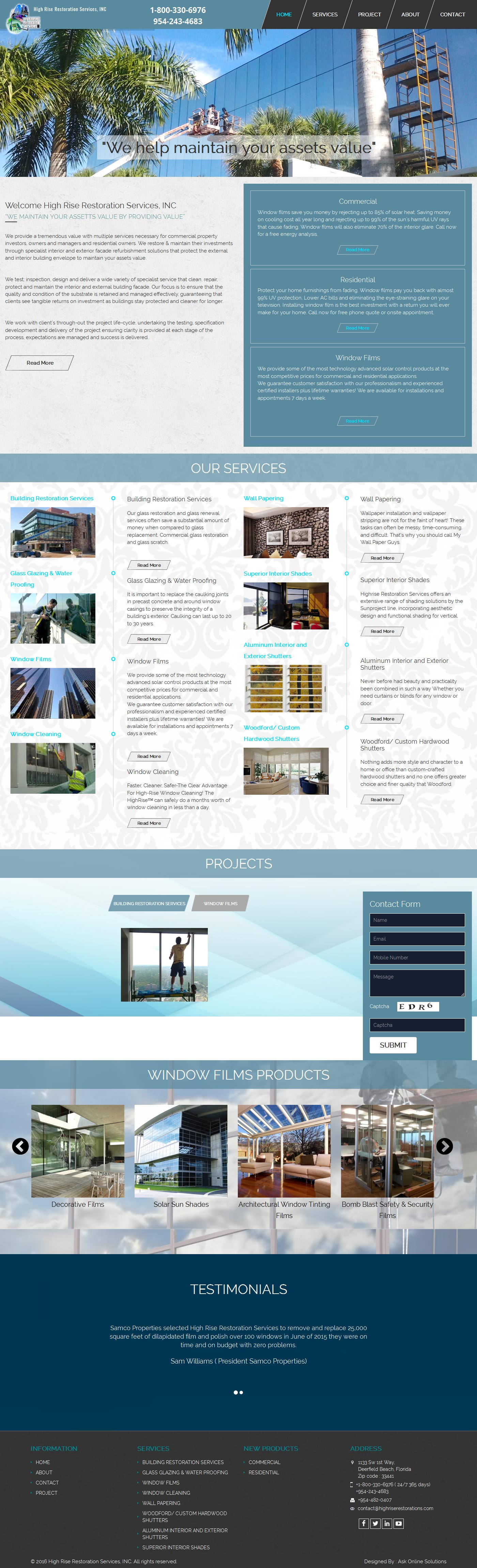 Ask Online Solutions Portfolio High Rise Home