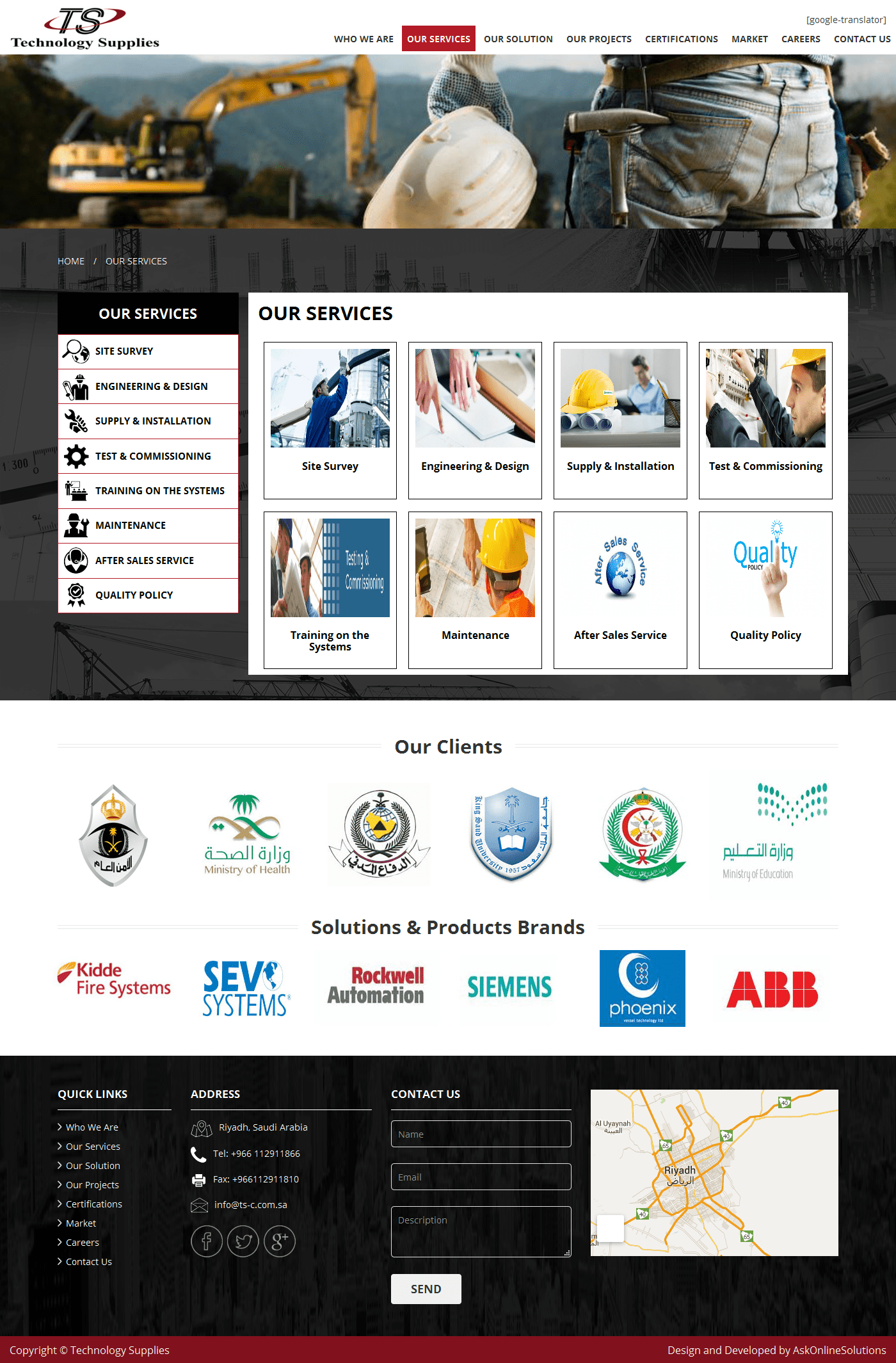 Ask Online Solutions Portfolio TS Services